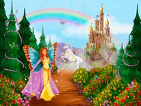 Butterfly Princess mural