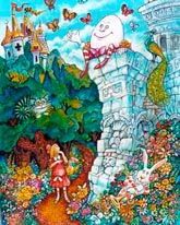 Alice And Humpty Dumpty mural