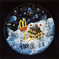 Mcdonalds In Space mural