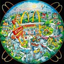 Mcdonalds 50S mural