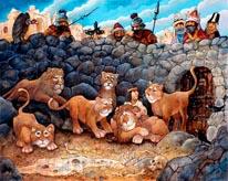 Daniel In Lions Den mural