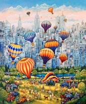 Central Park Balloons mural