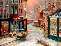 Winterfall mural