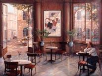 Café Romantique  mural