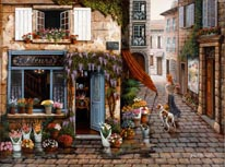 The Flower Shop mural