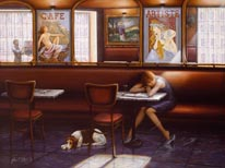 Café Des Artistes mural