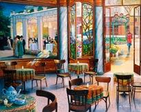 A Café Visit mural