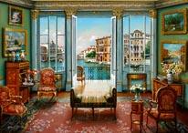 Venetian View mural