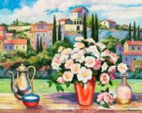 Tuscan Roses mural