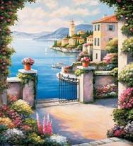 Mediterranean Patio mural