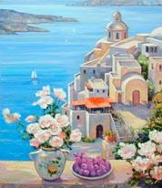 Mediterranean Roses mural