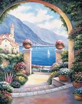 Mediterranean Archway mural