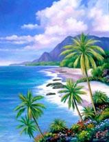 Tropical Paradise 2 mural