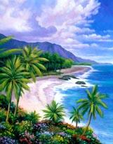Tropical Paradise 1 mural