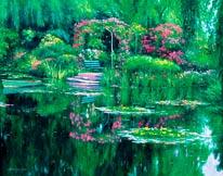 Monets Garden mural
