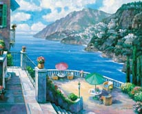 The Amalfi Coast mural