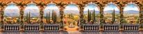 Tuscan Villa - Panoramic mural
