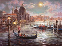 Grand Canal Venice mural