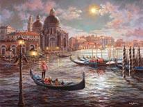 Grand Canal Venice mural