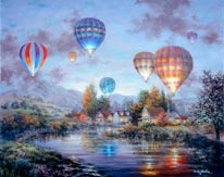Balloon Glow mural