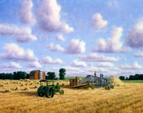 Threshing Day mural