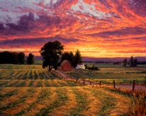 Farm Sunset mural