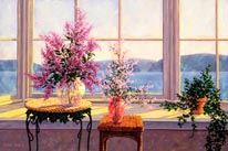 Bay Window Bouquet mural