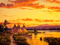 Northern Blackfoot Hunters Camp mural