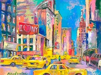 New York Taxi mural