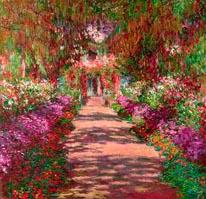 A Pathway In Monets Garden mural