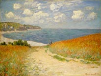 Path in the Wheat at Pourville 1882 mural