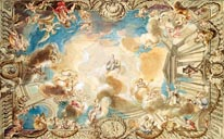 Ceiling Depicting Minerva mural