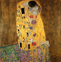 The Kiss Klimt mural