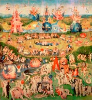 The Garden of Earthly Delights mural