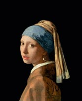 Girl With A Pearl Earring mural
