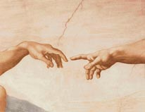 Hands Of God And Adam mural