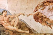 The Creation Of Adam mural