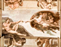 Sistine Chapel Ceiling Creation Of Adam mural
