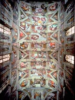 Sistine Chapel Ceiling Post Restoration mural