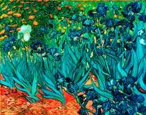Irises 1889 mural