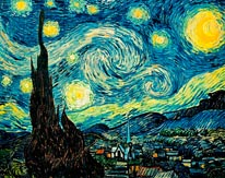 Starry Night (Van Gogh) Vinyl Wall Decal mural