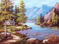Lakeside Lodge mural