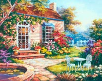 Spring Patio I mural