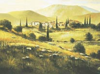 Quiet Fields Of Montalcino mural