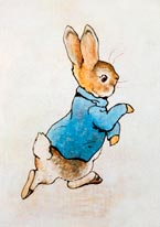 Peter Rabbit Running mural