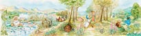 Country Landscape I mural
