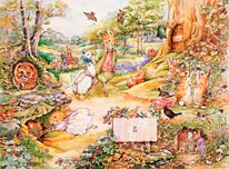 Country Woodlands mural