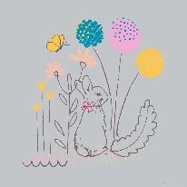 Flopsy Garden - Line mural