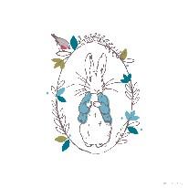 Peter Rabbit Thinking - Line mural