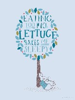 Too Much Lettuce - Peter Rabbit - Blue mural